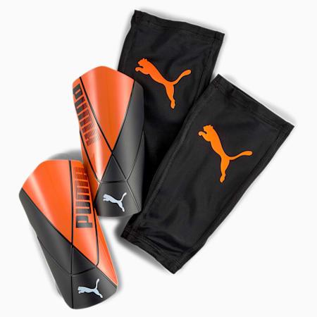 ftblNXT PRO Flex scheenbeschermers met kousen, Shocking Orange-Black-White, small