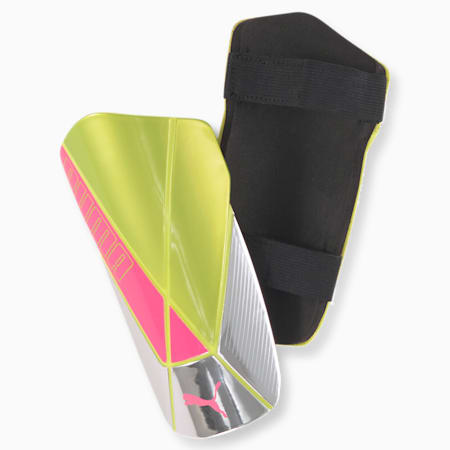 ftblNXT TEAM Shin Guards, Nrgy Peach-Fizzy Yellow, small