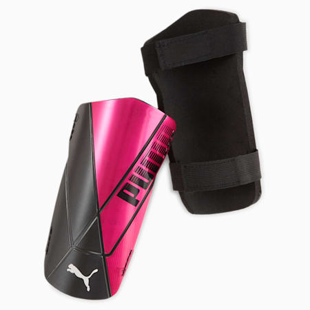 ftblNXT TEAM Shin Guards, Luminous Pink-Puma Black, small