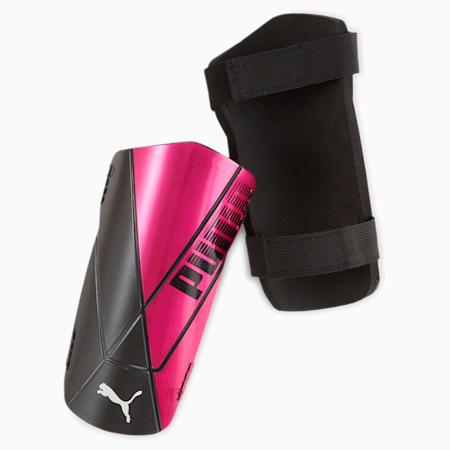 ftblNXT TEAM Shin Guards, Luminous Pink-Puma Black, small