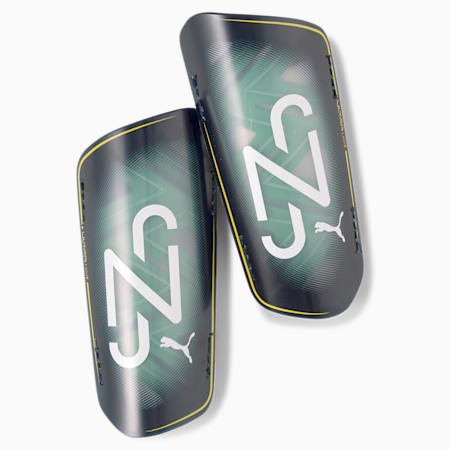 Neymar Jr ULTRA Light Strapped Shin Guards, Peacoat-Jelly Bean-Dand-Wht, small