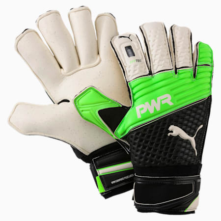 evoPOWER Protect 2.3 Goalkeeper Gloves, Green Gecko-Black-White, small