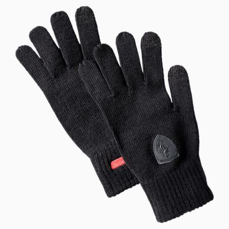 Ferrari Knit Gloves, Puma Black, small-IND