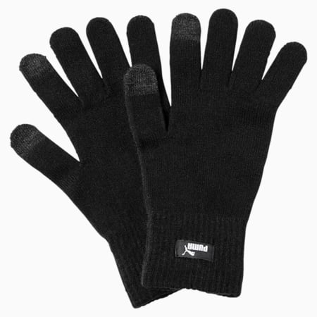 PUMA Knitted Gloves, Puma Black-N.1 LOGO, small