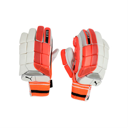 EVO 3 Batting glove, Fiery Coral-Black-White-RH, small-IND