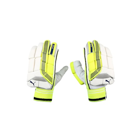 EVO 4 Batting Gloves, Yellow-Blue-White-RIGHT HAND, small-IND