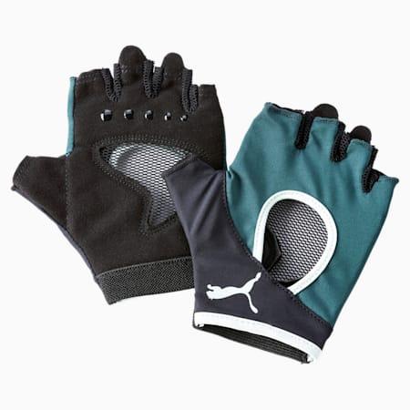 Active Women's Gym Gloves, Ponderosa Pine-FAIR AQUA, small