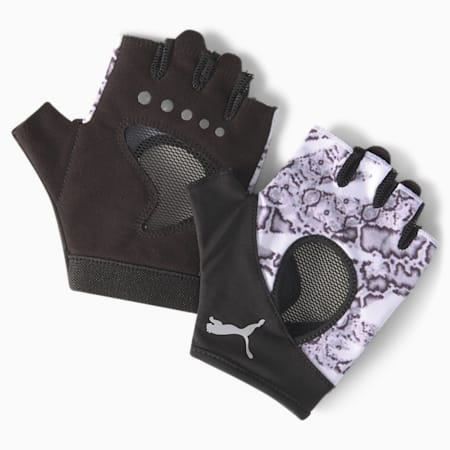 Active Women's Gym Gloves, Puma White-untamed, small-GBR
