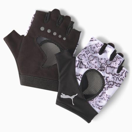 Active Women's Gym Gloves, Puma White-untamed, small