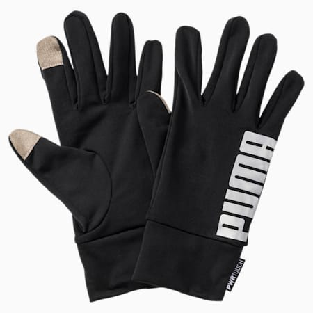 Performance Running Gloves, Puma Black-reflective silver, small-IND