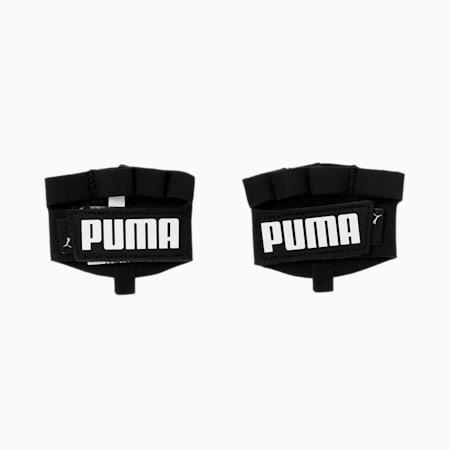 Training Essential Grip Unisex Cut Fingered Gloves, Puma Black-Puma White, small-IND