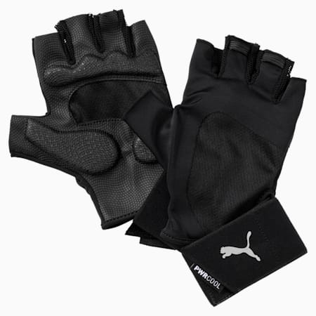 Training  Essential Premium Unisex Fingered Gloves, Puma Black-Gray Violet, small-IND