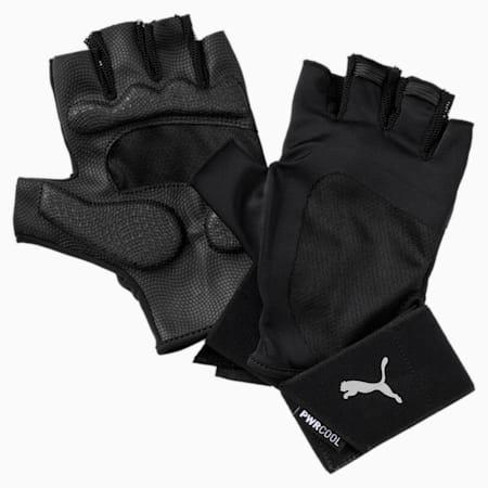 Training Men's Essential Premium Gloves, Puma Black-Gray Violet, small-IND
