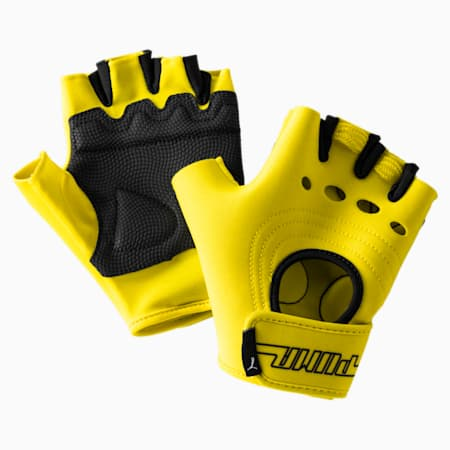 Women's Cosmic Gym Gloves, Blazing Yellow, small-IND