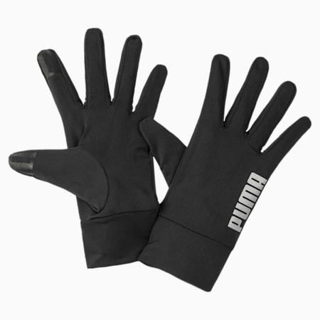 PR Performance Running Fingered Gloves, Puma Black, small-IND