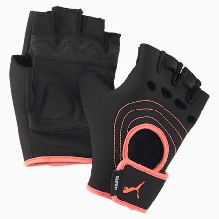 AT Damen Training Handschuhe, Puma Black-Nrgy Peach, small