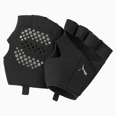 Training Essential Premium Grip Unisex Cut Fingered Gloves, Puma Black, small-IND