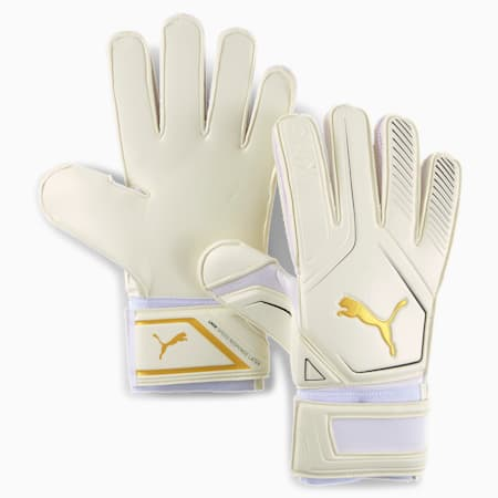King RC Goalkeeper Gloves, Puma White-Gold-Puma Black, small