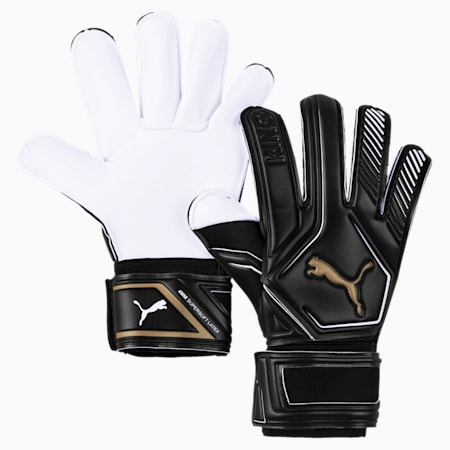 King GC Goalkeeper Gloves, Puma Black-Gold-Puma White, small
