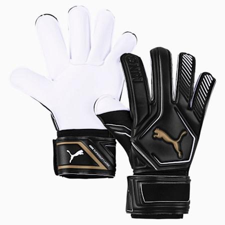 King GC Goalkeeper Gloves, Puma Black-Gold-Puma White, small-GBR