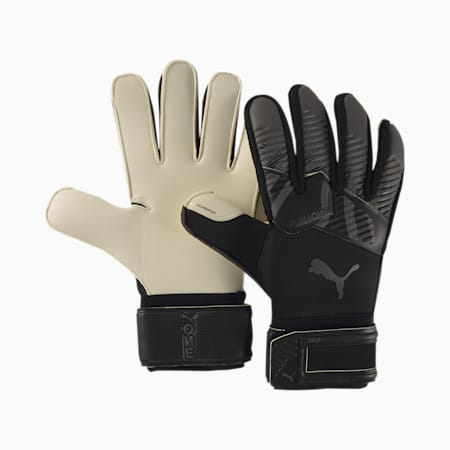 PUMA ONE Grip 1 Goalkeeper Gloves, Black-Asphalt-White, small