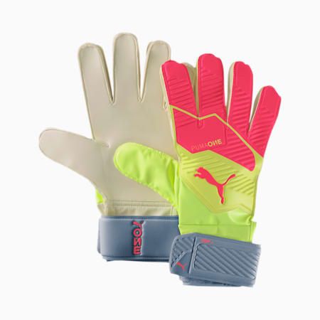 PUMA ONE Grip 4 Goalkeeper Gloves, Nrgy Peach-Fizzy Yellow, small