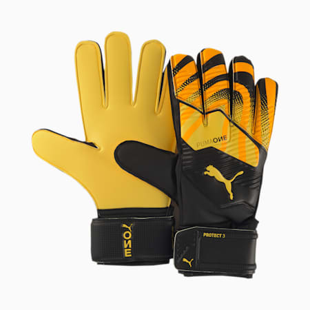 PUMA ONE Protect 3 Goalkeeper Gloves, ULTRA YELLOW-Black-White, small