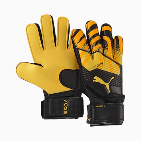 PUMA ONE Protect 3 Kids' Goalkeeper Gloves, ULTRA YELLOW-Black-White, small-SEA