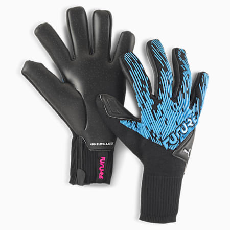 FUTURE Grip 5.1 Hybrid Goalkeeper Gloves, Luminous Blue-Black-Pink, small