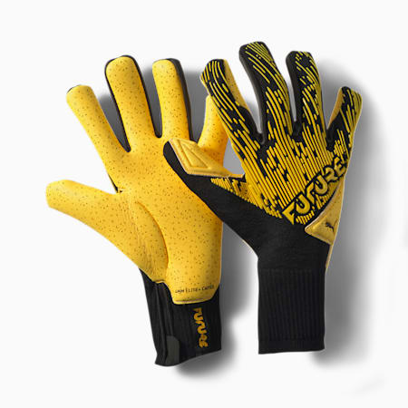 FUTURE Grip 5.1 Hybrid Goalkeeper Gloves, ULTRA YELLOW-Black-White, small