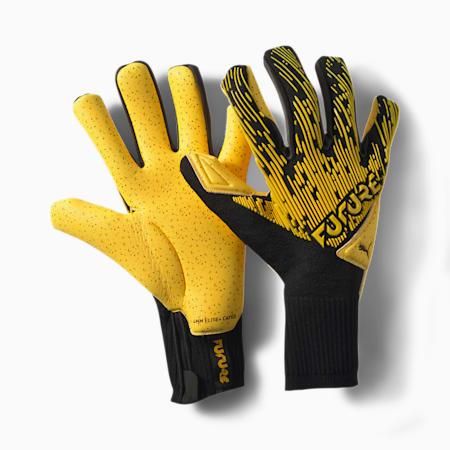 FUTURE Grip 5.1 Hybrid Goalkeeper Gloves, ULTRA YELLOW-Black-White, small