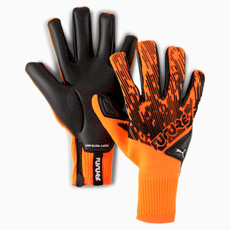 FUTURE Grip 5.1 Hybrid Goalkeeper Gloves, Shocking Orange-Black-White, small