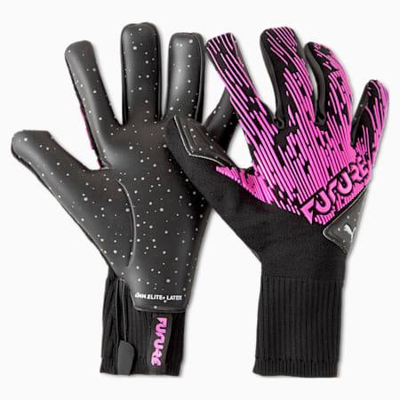 Guanti da portiere ibridi FUTURE Grip 5.1, Luminous Pink-Puma Black, small