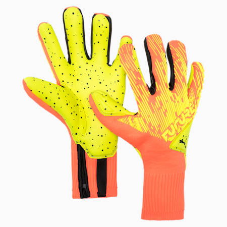 FUTURE Grip 5.1 Hybrid Goalkeeper Gloves, Nrgy Peach-Yellow Alert, small