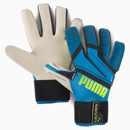 PUMA ULTRA Grip 1 Hybrid Pro Goalkeeper Gloves, Nrgy Blue-Yellow Alert, small