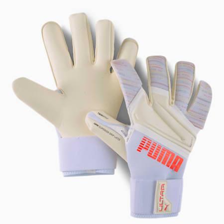 PUMA ULTRA Grip 1 Hybrid Pro Goalkeeper Gloves, Red Blast-Puma White, small