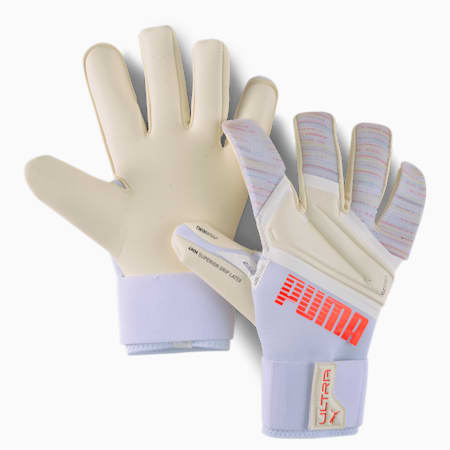Rękawice bramkarskie PUMA ULTRA Grip 1 Hybrid Pro, Red Blast-Puma White, small