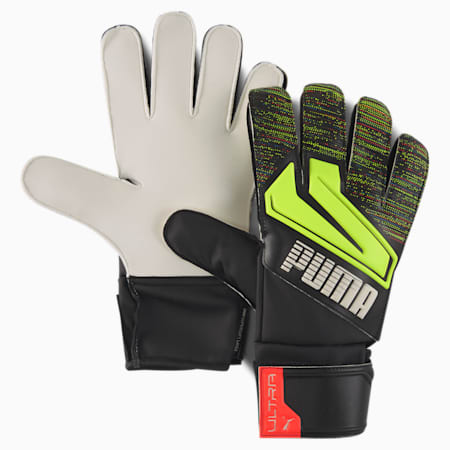 ULTRA Grip 4 RC Goalkeeper Gloves, Puma Black-Yellow Alert, small