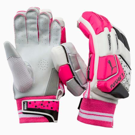 PUMA Future 20.1 Cricket Batting Gloves, Fluo Pink-Puma Black-Silver, small-IND