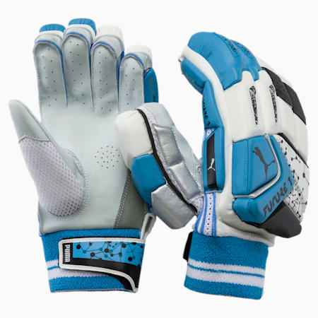 PUMA Future 20.1 Cricket Batting Gloves, Ethereal Blue-Puma Black-RH, small-IND