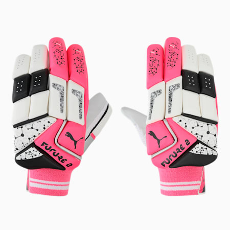 PUMA Future 20.2 Cricket Batting Gloves, Fluo Pink-Puma Black-LH, small-IND