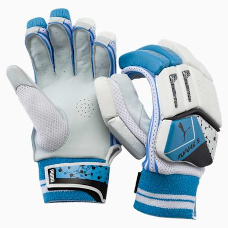 PUMA Future 20.5 Cricket Batting Gloves, Ethereal Blue-Puma Black, small-IND