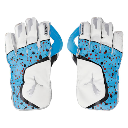 PUMA Future 20.3 Cricket Wicket Keeping Gloves, Ethereal Blue-Puma Black-Sil, small-IND