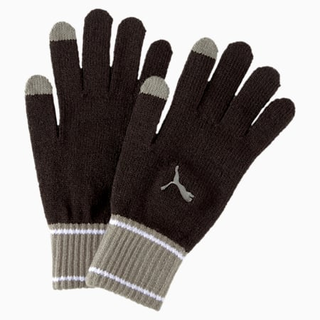Knit Gloves, Puma Black-Ultra Gray, small