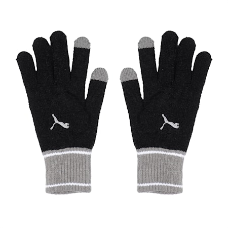 Knit Gloves, Puma Black-Ultra Gray, small-IND