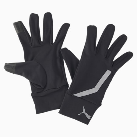 PR Performance Running Gloves, Puma Black, small