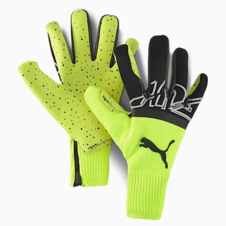 FUTURE Z Grip 1 Hybrid Goalkeeper Gloves, Yellow Alert-Black-White, small