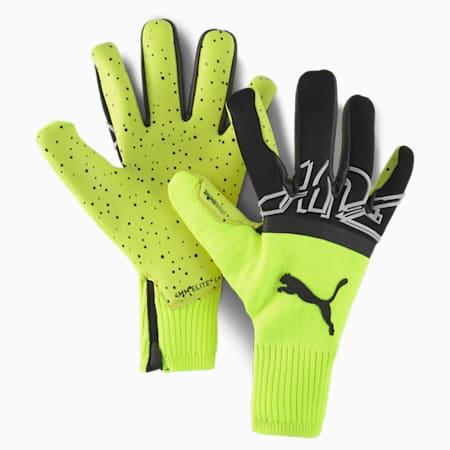 FUTURE Z Grip 1 Hybrid Goalkeeper Gloves, Yellow Alert-Black-White, small