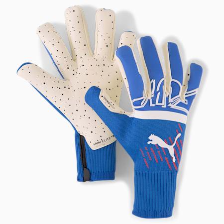 FUTURE Z Grip 1 Hybrid Unisex Goalkeeper Gloves, Bluemazing-Sunblaze-Puma White, small-IND