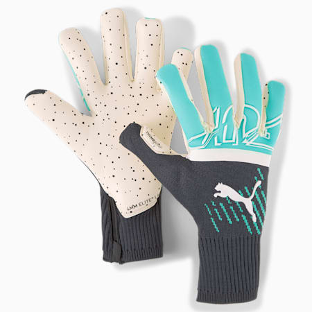 FUTURE Z Grip 1 Hybrid Goalkeeper Gloves, Green Glare-Elektro Aqua-Puma Black, small-GBR